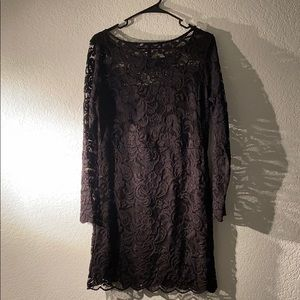 H &M black lace dress